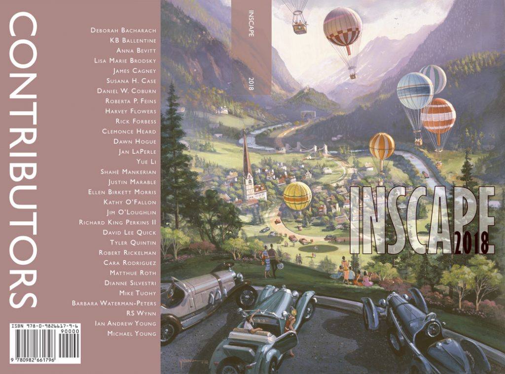 Inscape 2018 final cover design, original artwork by Michael Young
